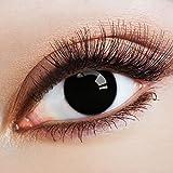 aricona Farblinsen schwarze Kontaktlinsen Spezialeffekt für Cosplay/Halloween
