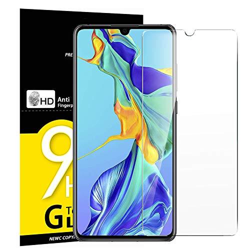 NEW'C Lot de 3 Verre Trempé pour Huawei P30, Film Protection écran - Anti Rayures - sans Bulles d'air -Ultra Résistant (0,33mm HD Ultra Transparent) Dureté 9H Glass