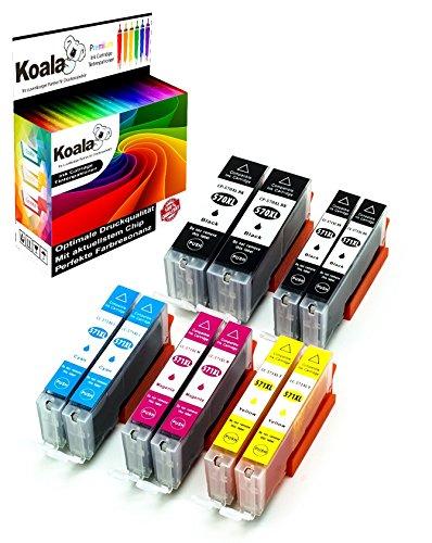Koala 10 Druckerpatronen kompatibel für Canon PGI-570XL CLI-571XL 570XL 571XL für Canon Pixma MG5750 MG5751 MG5752 MG5753 MG6850 MG6851 MG6852 TS5053 TS5055 TS6050 2*BK 2*PBK 2*C 2*M 2*Y