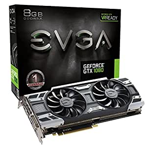 EVGA GeForce GTX 1080 GAMING ACX 3.0/8GB GDDR5X/LED/DX12 OSD Supporté (PXOC) Carte Graphique 08G-P4-6181-KR