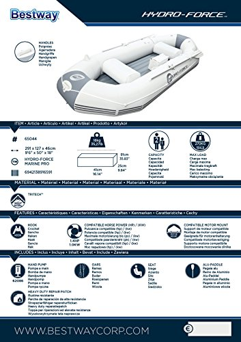 Bestway Barca Hinchable Neumática Hydro-Force Marine Pro