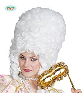 French Revolution Large White Wig by Guirca