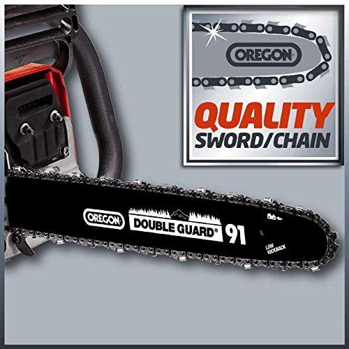 Einhell Benzin Kettensäge GC-PC 2040 I (2 kW, 40 cm Schwertlänge, 21 m/s Schnittgeschwindigkeit, automatische Kettenschmierung, inkl. Schwertschutz) - 2