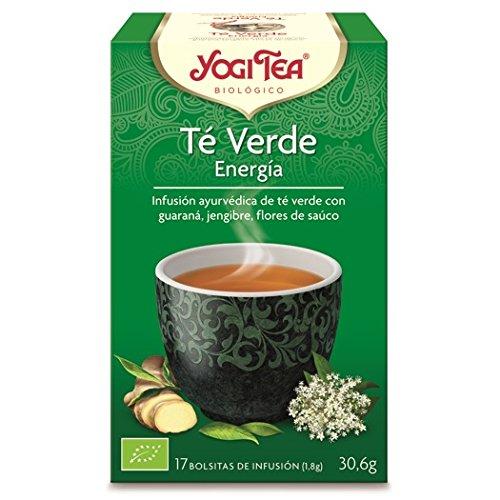 Yogi Tea Infusión de Hierbas Te Verde Energía - 17 bolsitas -...