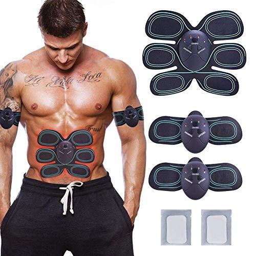 RIRGI Elektrostimulator EMS Muskelstimulator Muskeltraining EMS Trainingsgerät für Arm Bauch Beine Bizeps Trizeps Home Fitness Gerät für Körperbau und Fettverbrennung Männer und Damen