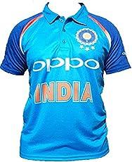Ksports Replica Team India ODI Cricket Jersey Oppo India Size 40(Large)