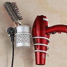 Joyoldelf montaje en pared Soporte para secador de pelo,Aluminio del espacio