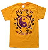 Jeet Kune Do Be Like Water Gold T-Shirt, Größe M