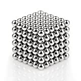 Un Conjunto De (216 Paquetes) De Acero Inoxidable Bola De Metal Diy Escultura Libre CreacióN Y CombinacióN De Cubo Magnético (5Mm)