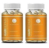 Hairworthy Hairrepair Tablets - gesünder, voller und mehr Volumen. Bierhefe und Biotin für schnelle und bemerkenswerte Ergebnisse. Eine vegetarische Tablette pro Tag. Haar, Haut und Nagel.