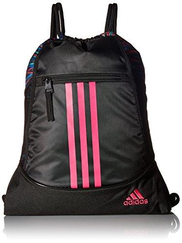 adidas Unisex-Erwachsene Alliance II-Rucksackbeutel, Black Twister/Black/Shock Pink, Einheitsgröße