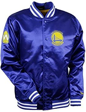 New Era Golden State Warriors NBA Tip Off Sateen Bomber College Jacket Jacke