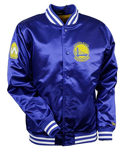 New Era Golden State Warriors Tip Off Satin NBA Jacke Blau, XL