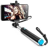 Anker AK-A71600J1 Selfie Stick, Verstellbare Selfie-Stange, Ohne Akku, mit Kabel, für iPhone 6s/6/5, Galaxy, Nexus und Viele Mehr, in Schwarz