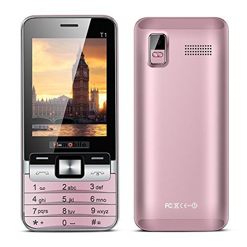 Padgene® Téléphone Portable Débloqué 2G ( 2,8 pouces Ecran – Double SIM – 64Mo ) Rose