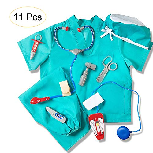 Leiyini Kinder Blue Doctor Role Play Kostüm Pretend -