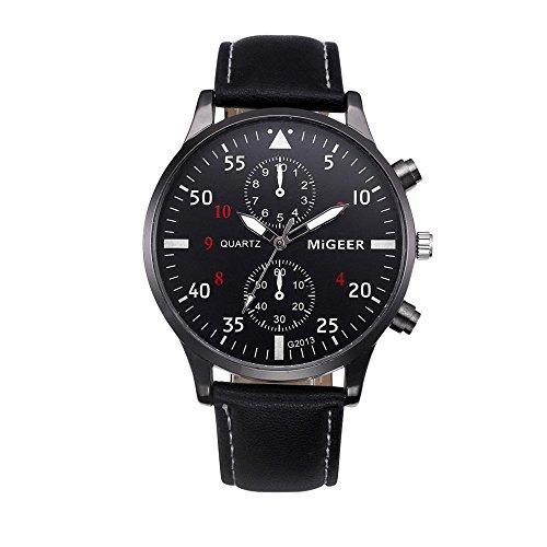 Armbanduhr Männer COOKDATE Armbanduhr aus Quarz Armband uhr im Retro Design (Schwarz)