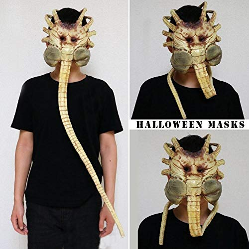 hopping Mall 1 Alien Contract Worm Model Face Garage Kits Halloween Mask - Bulk Gold Blue Male Party Animal Superhero Masquerade Bundles Half Plastic Pack Unicorn Luxu ()