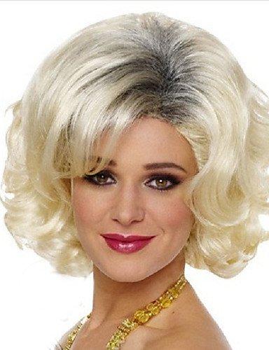 JIAFA BBDM l'europe et Les États-Unis vendent comme des Petits Pains pâle Gradient d'or à Court Perruque frisée, Blonde