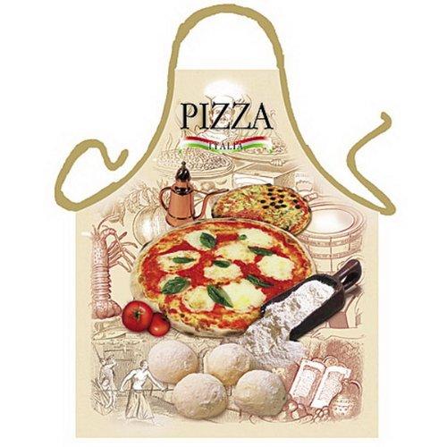 Grillschürze - Kochschürze - Italienische Pizza - Lustige Motiv Schürze als Geschenk für Grill Fans mit Humor
