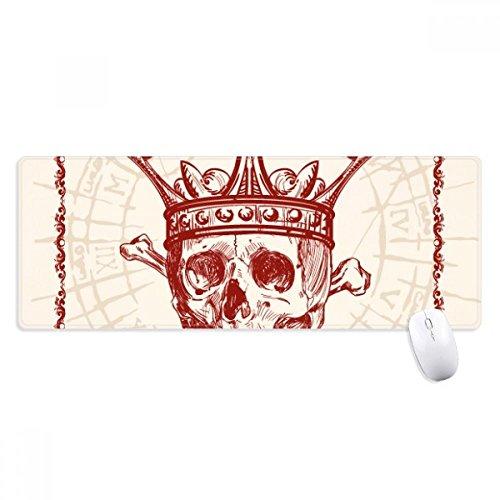 beatChong Herz-Spaten Red Crown Skeleton Poker-Karten-Non-Slip Mousepad Große Erweiterte Spiel Büro titched Kanten Computer-Mat Geschenk