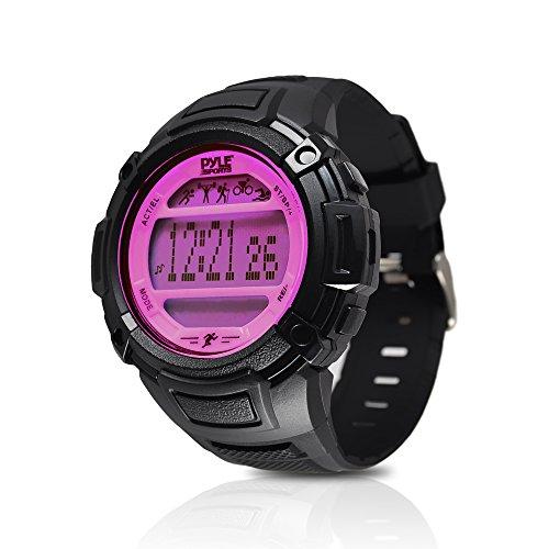 pyle-multifonction-moniteur-de-sommeil-podometre-retro-eclairage-led-sports-montre-bracelet-rose