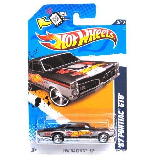 Hot Wheels 67Pontiac GTO '12 173/247(schwarz) Fahrzeug (Hot Gto Wheels)