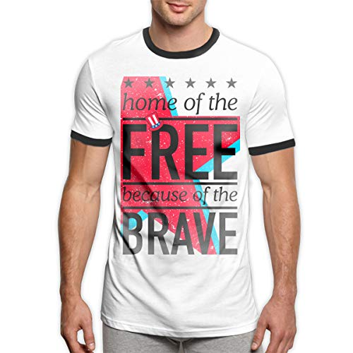 Mode feiern 4. Juli Startseite frei tapferen männer Ringer t-Shirt viertel Juli t-Shirt Mens 4. Juli veranstaltungen 2016 männer Kleidung schwarz s