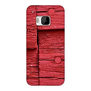 Cute Nailed Red Wood Designer Back Case Cover for HTC One M9