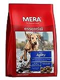 MERA Essential Hundefutter Agility, Trockenfutter mit Einer Rezeptur ohne Weizen für aktive sportliche Hunde, 1er Pack (1 x 12.5 kg)