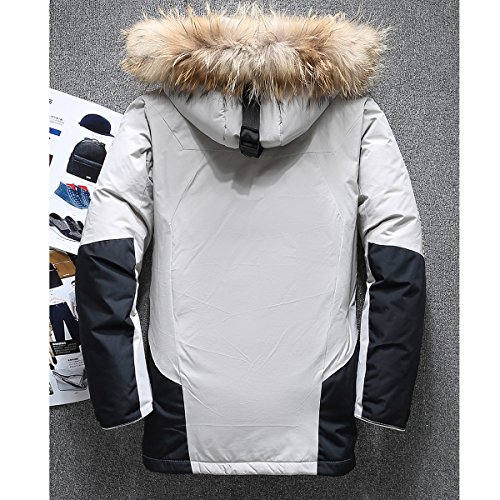 Gli uomini giacca invernale spessa di colore bianco caldo duck down coat di alta qualità abbigliamento casual wellensteyn uomini parka XL 180
