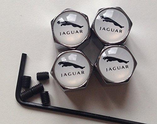 Anti-vortex-cover (Jaguar Chrom Alufelgen Reifen Ventilkappen, Rohrleitungen, weiß Logo)