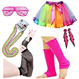 iLoveCos 80s Fête Accessoires vestimentaires 1980 Fancy Dress for Girls Women Night Out Party (A2)