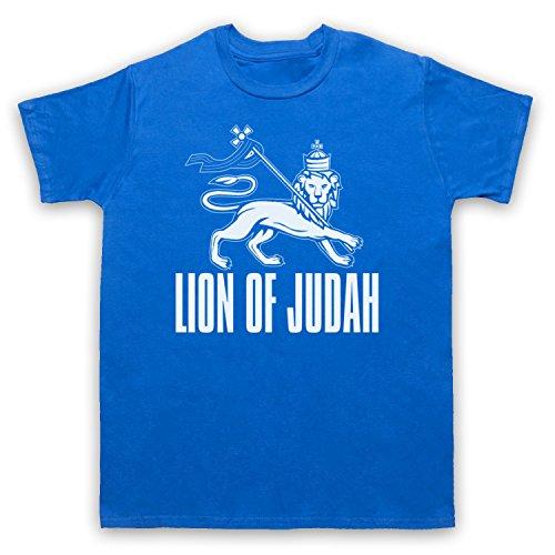 Lion Of Judah Israelite Tribe Herren T-Shirt Blau