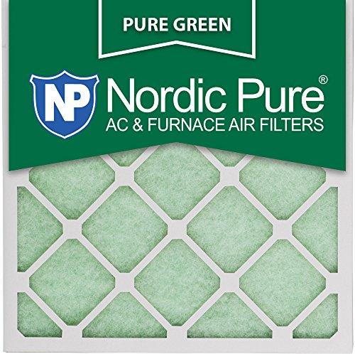 "Nordic Pure 20x20x1PureGreen-3 AC Furnace Air Filters, 20 x 20 x 1"", Pure Green"
