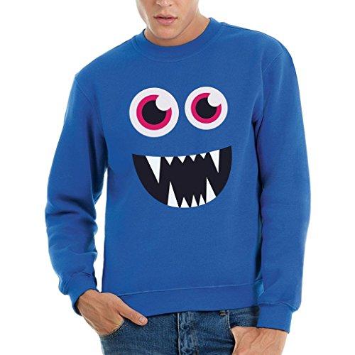 Sweatshirt Face Monster Vampire - LUSTIG by Mush Dress Your Style - Herren-XXL-Blau