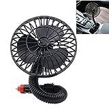 Voiture Électrique Ventilateurs Avec Flexible Cou, 12V Pour Auto SUV 360 ° Rotatif...