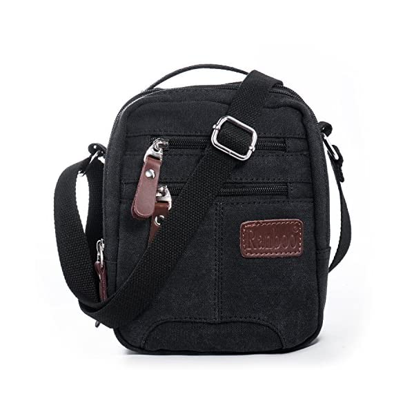 Hengwin Men Canvas Messenger Bag