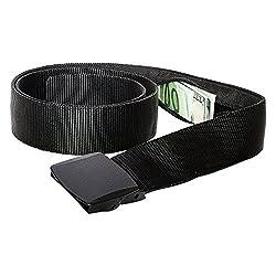 Geldgürtel mit Geheimfach Reise Gürtel mit Geldversteck (Black) EINWEG