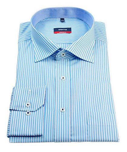 eterna -  Camicia classiche  - A righe - Classico  - Uomo Turchese