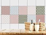 GRAZDesign 770372_20x20_FS30st Fliesenaufkleber für Küche | Fliesensticker-Set Küchenmaschine | Küchen-Fliesen mit Klebefolie (20x20cm//Set 30 Stück)