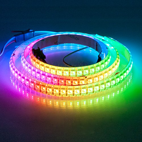 BTF-LIGHTING RGBW RGBNW Natural White SK6812 (Similar WS2812B) 3.3ft 1m 144leds/pixels/m Individually Addressable Flexible 4 color in 1 LED Dream Color LED Strip Waterproof IP65 DC5V