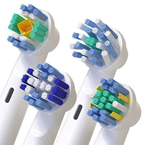 Recambios Cepillos Electricos para Oral B 16 Packs,  Homegoo Recambios de cabezales de cepillo de dientes eléctrico para las series Pro,  Genius y Smart- 4 Cross,  4 Precision Clean,  4 Floss y 4 blanco 3D