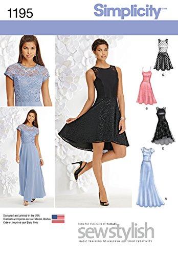 Simplicity 1195Größe P512/14/16/18/50,8cm Misses und Miss Petite Besonderen Anlass Kleid Schnittmuster