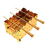 Indian Art Mantra Pure Copper Paneer Tikka Barbeque Grill With 3 Scewers, For Paneer, Chiken tikka, Barbeque
