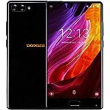 Smartphone 4G, DOOGEE MIX Telephone Portable Debloqué (Écran: 5,5 Pouce Super AMOLED - Helio P25 Octa Core 2.5G - 4Go + 64Go - 16MP + 5MP Double Caméras - Empreinte Digitale - 3580mAh Avec Charge Rapide - Double SIM - Android 7.0) Noir