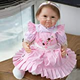 22'' 55cm Reborn Baby Doll Realistic Reborn Baby Dolls Lifelike Soft Silicone Vinyl Child Birthday Gift Xmas Present