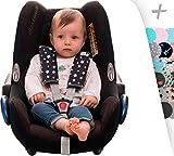 Protezione imbracatura di arneses per passeggino, Maxicosi e sedia di auto. Janabebe® (Winter Sky, M)