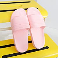 fankou Slippers Male Summer Stay Cool with a Couple of Indoor Slippers Thick Plastic Bath Anti-Slip Bath Slippers Female Soft Bottom,35-36,B- Pink.