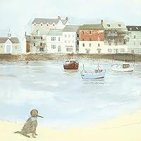 "Hannah Cole ""Cornish Sea Dog"" Canvas Print, Cotton, Multi-Colour, 3.20 x 40.00 x 40.00 cm"